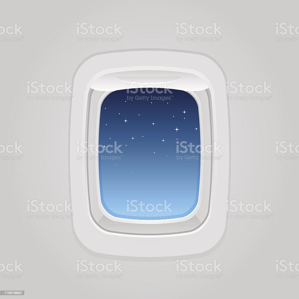 plane window at night royalty-free stock vector art