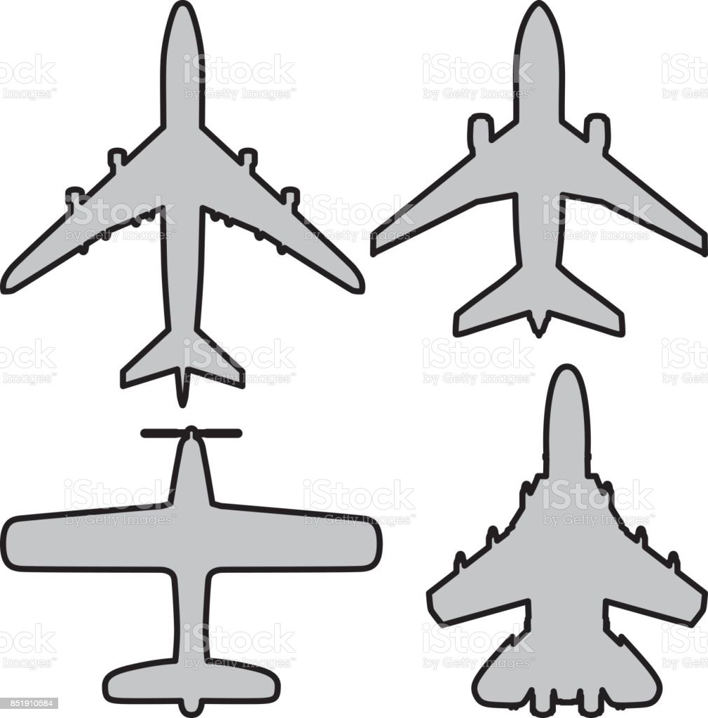 Planes vector art illustration