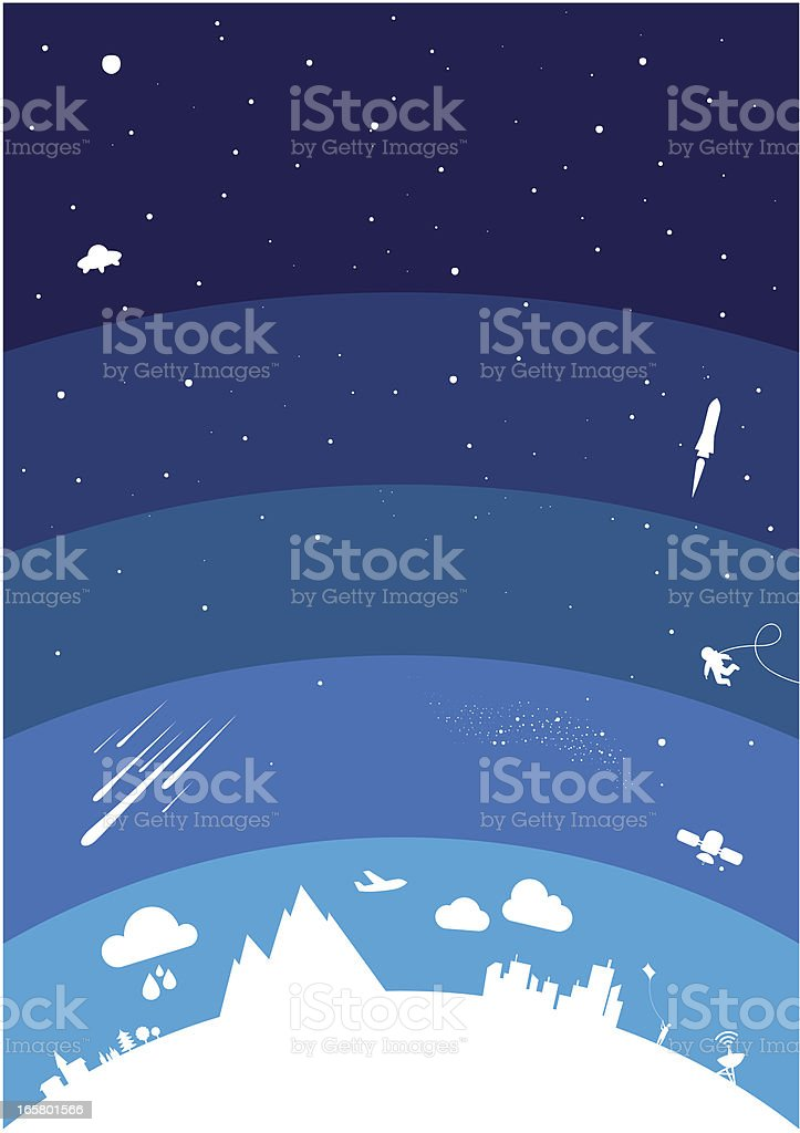 Planet atmosphere vector art illustration