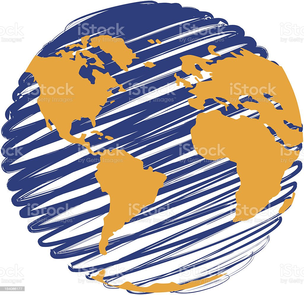 Planet Earth - Globe 1 vector art illustration