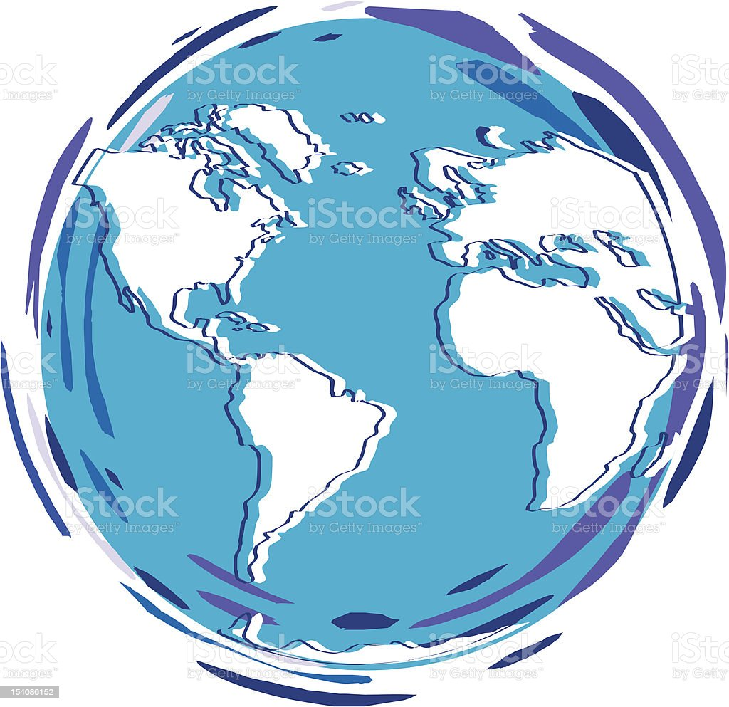 Planet Earth - Globe 2 vector art illustration