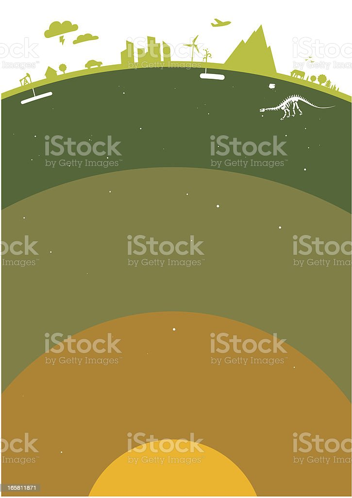 Planet layers vector art illustration