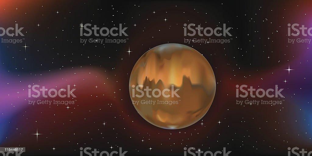 planet mars royalty-free stock vector art