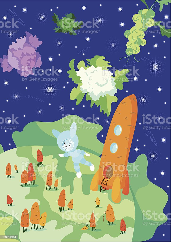 Planet of the Carrots royalty-free stock vector art