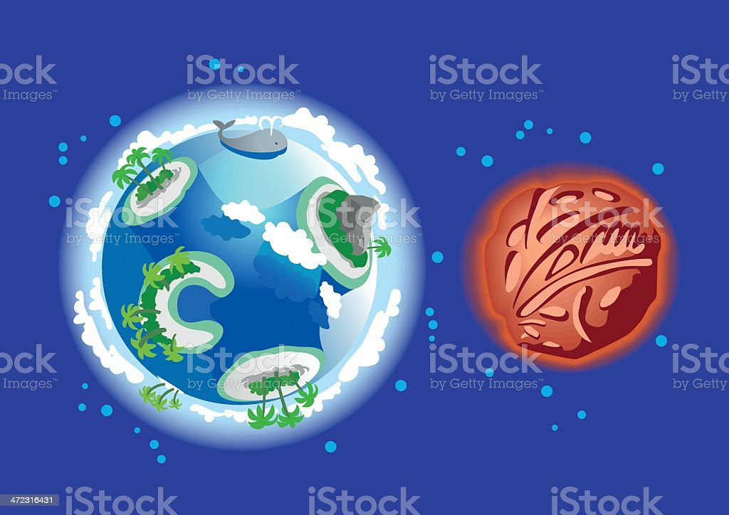 Planet set royalty-free stock vector art