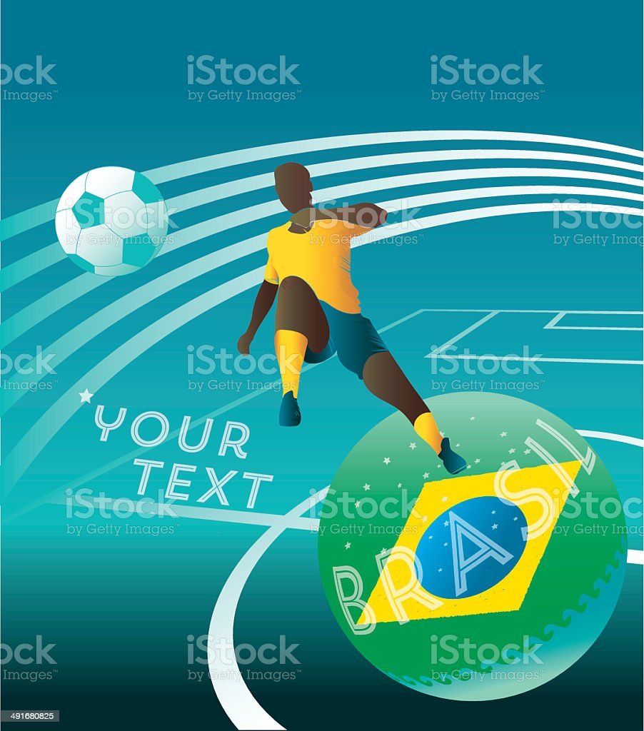 planet soccer background royalty-free stock vector art