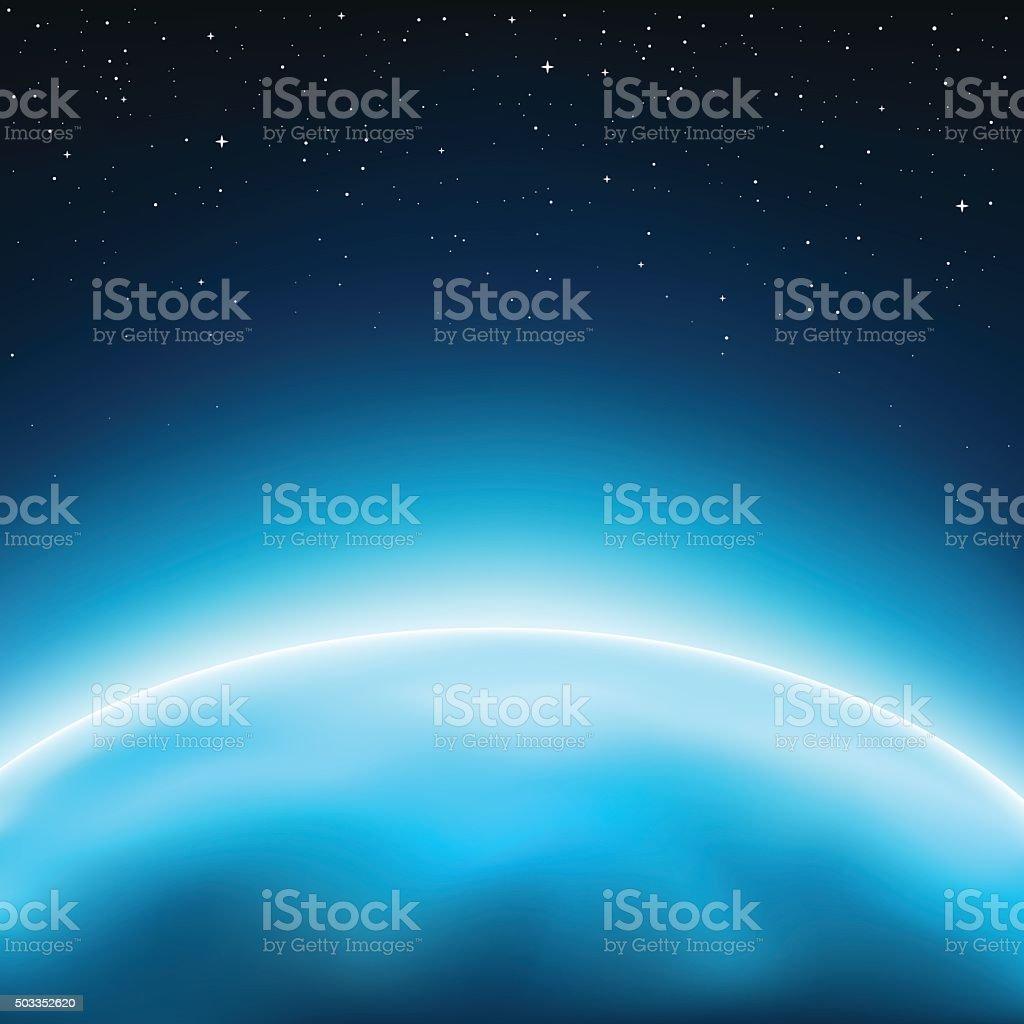 planet space background vector art illustration