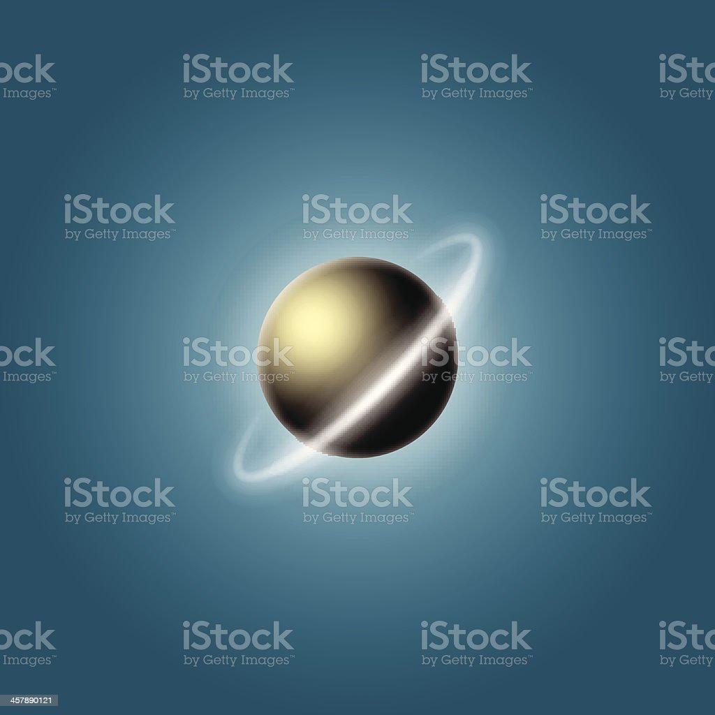 planet with a ring royalty-free stock vector art