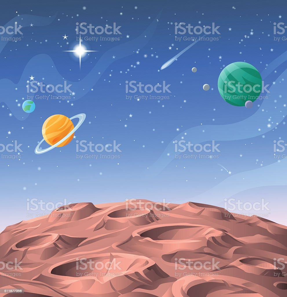 Planetary Surface vector art illustration