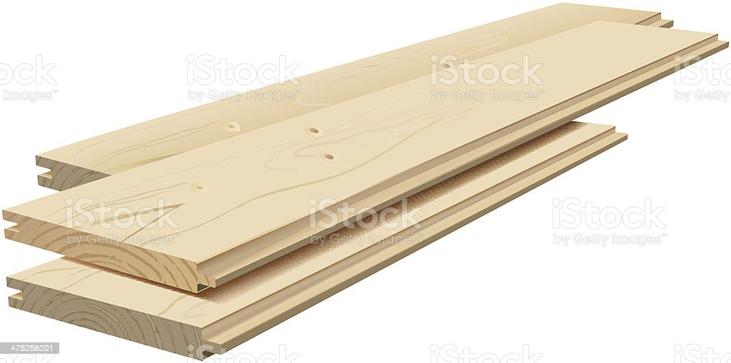 planks vector art illustration
