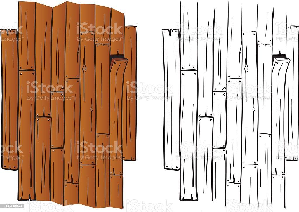 Planks vector art illustration
