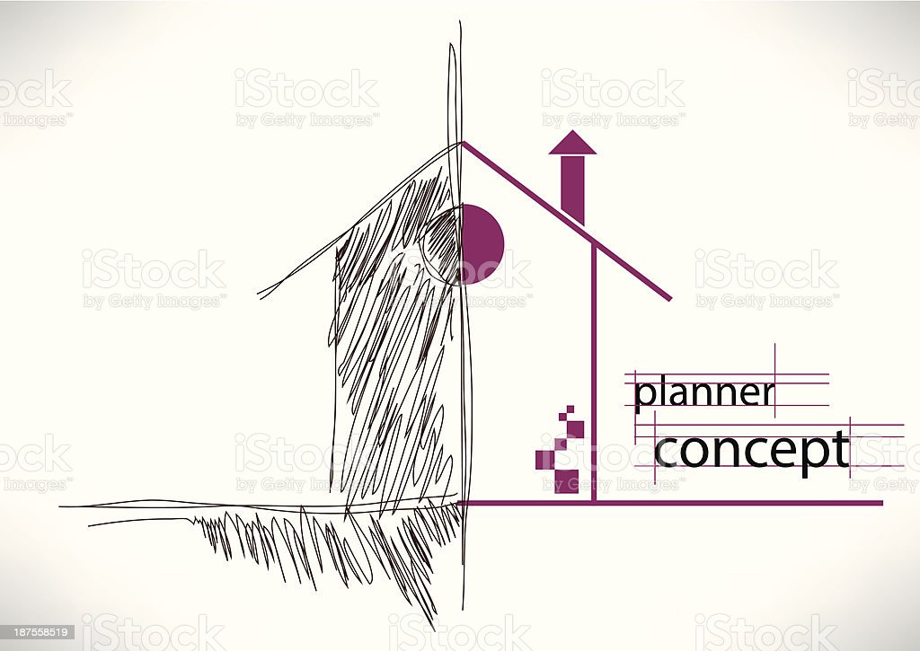planner concept vector art illustration