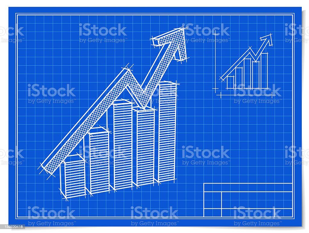 Planning a Rise royalty-free stock vector art