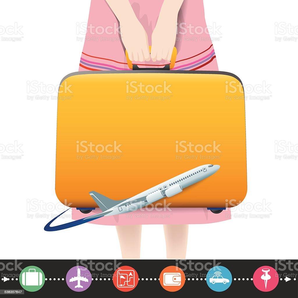 planning a summer vacation vector art illustration