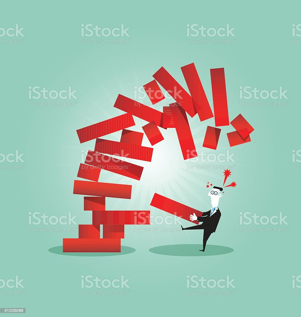Planning, risk and strategy in business vector art illustration