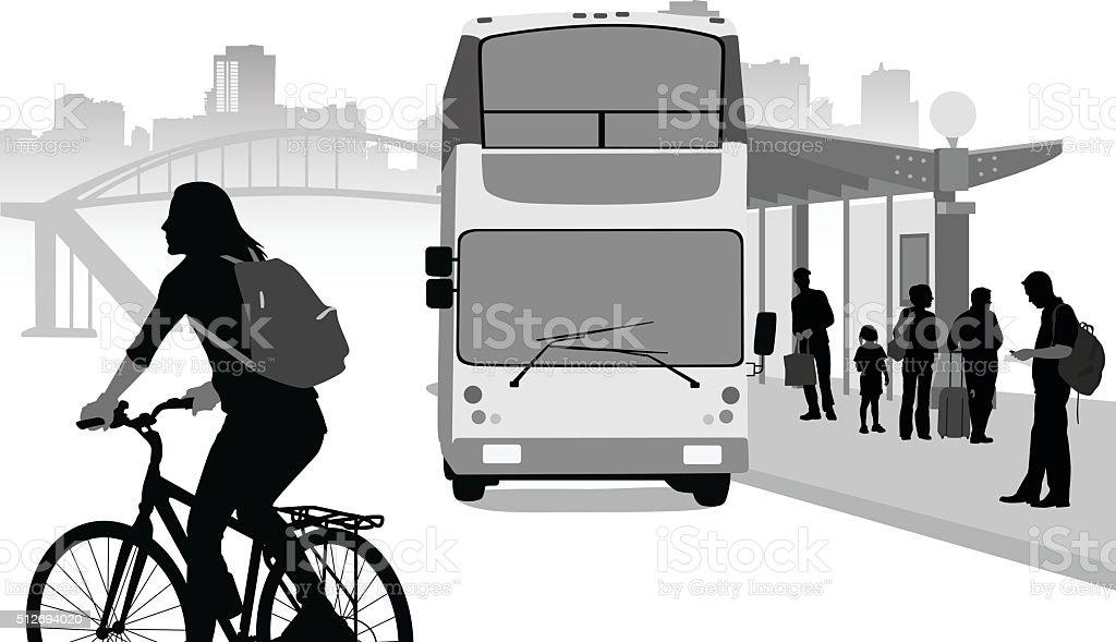 Planning Urban Transportation vector art illustration