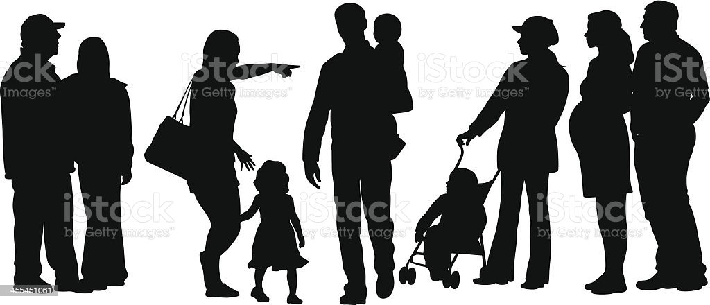 Planning Vector Silhouette royalty-free stock vector art
