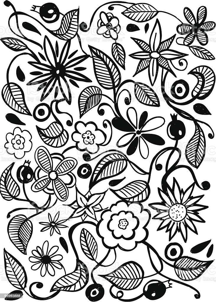 plant doodle royalty-free stock vector art