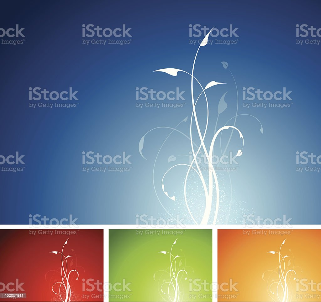Plant floral design background royalty-free stock vector art