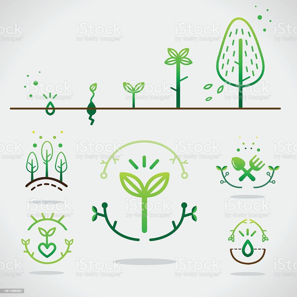 plant icon vector art illustration