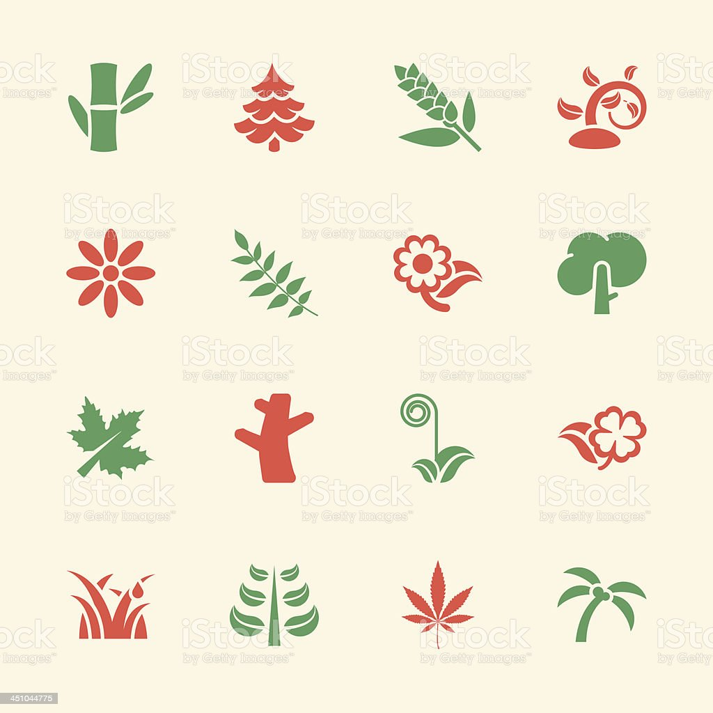 Plant Icons - Color Series | EPS10 royalty-free stock vector art