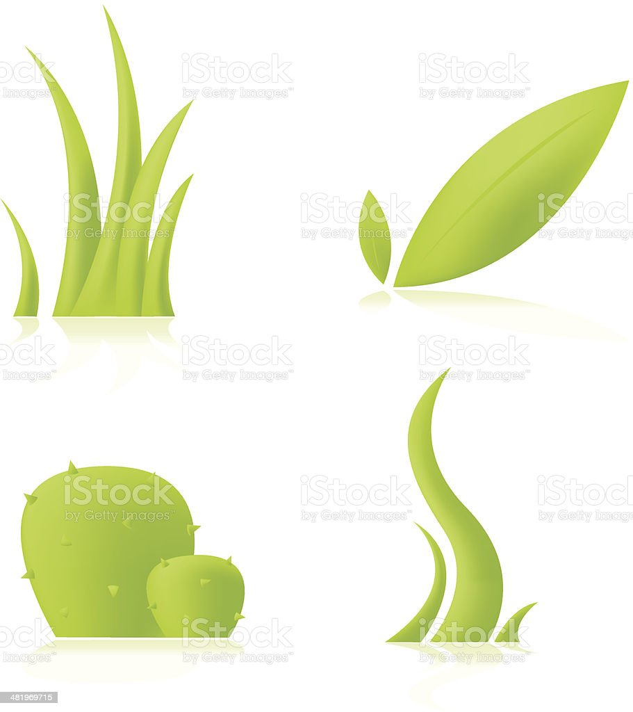 Plant icons royalty-free stock vector art