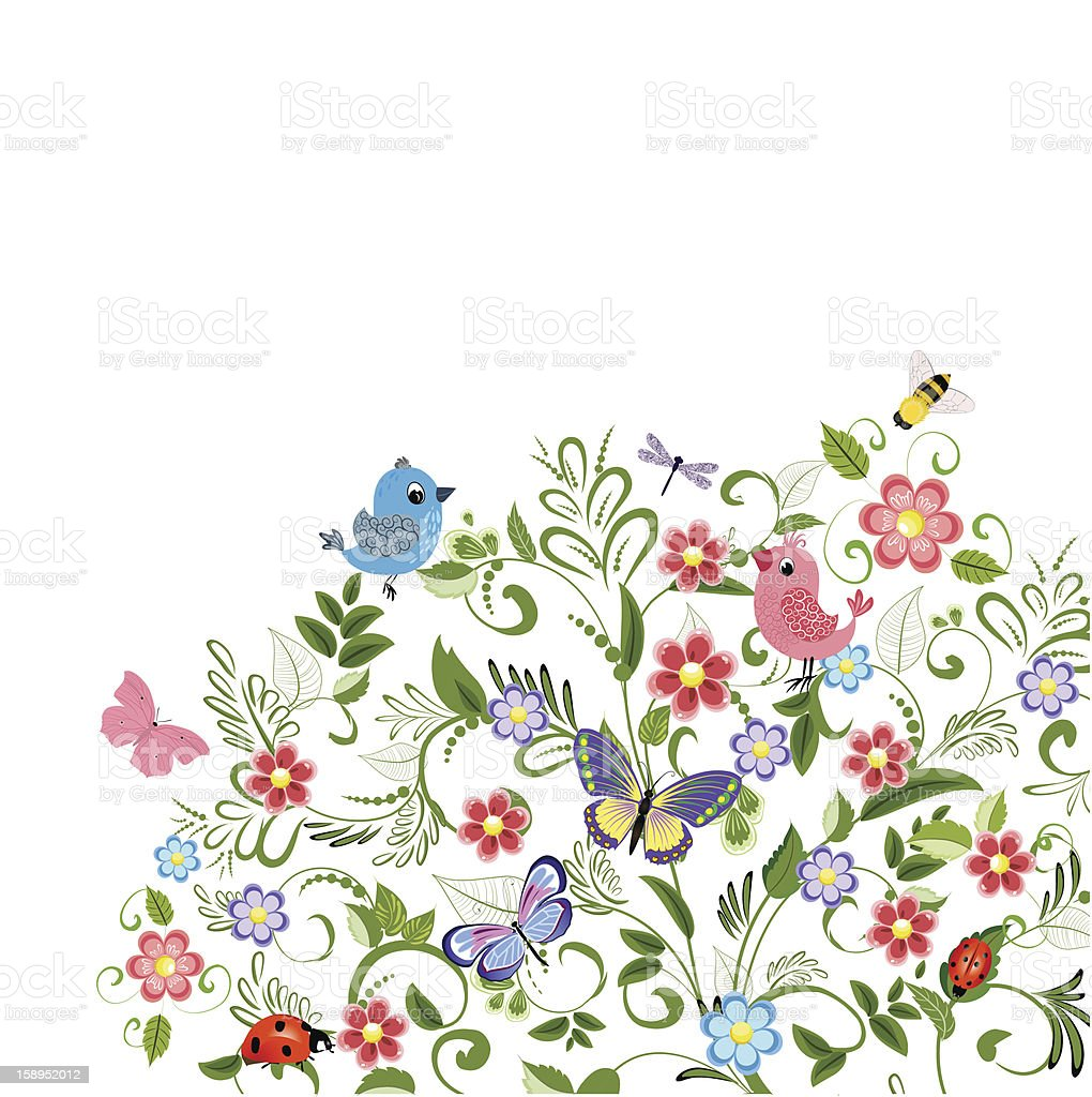 plant ornament  for your design royalty-free stock vector art