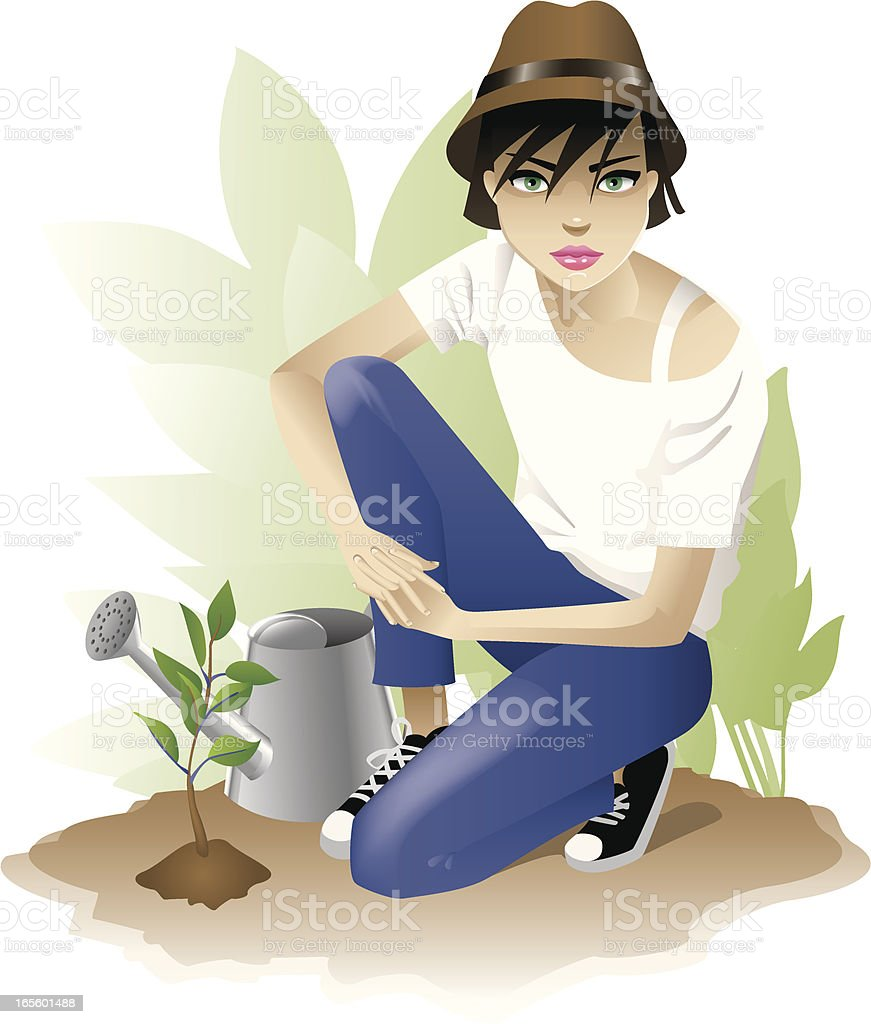 Planting a Future royalty-free stock vector art