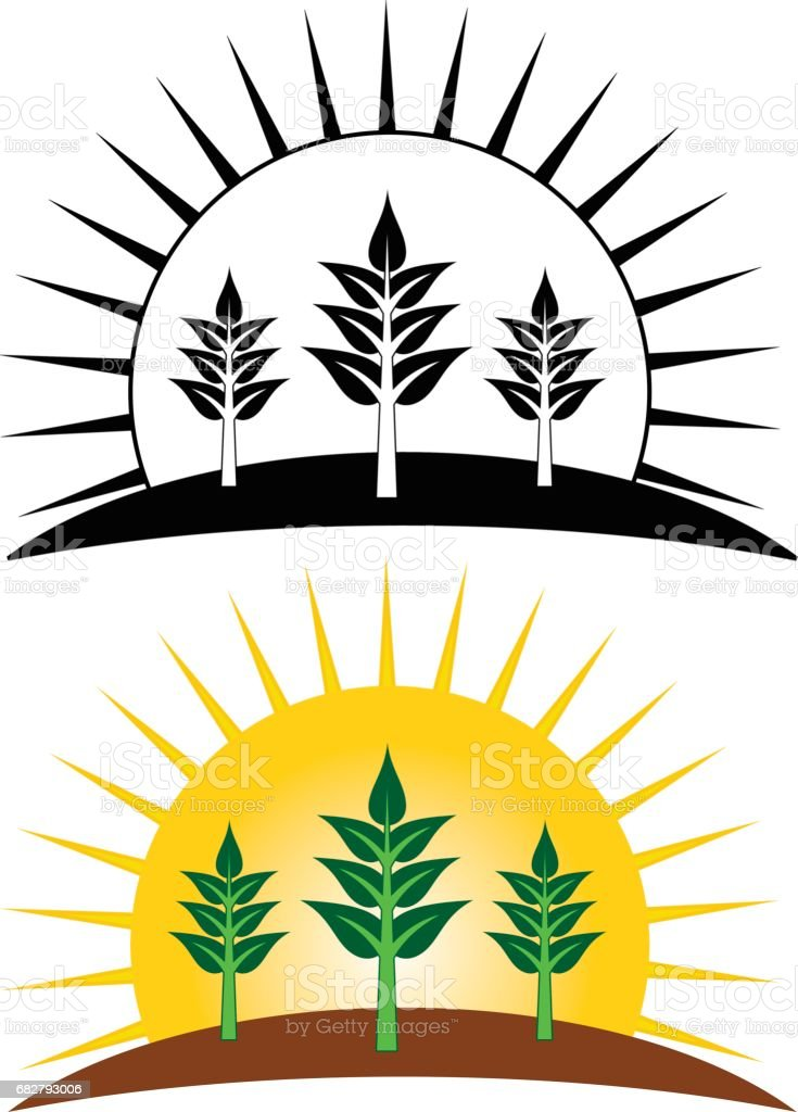 Planting Growing Farming Design vector art illustration
