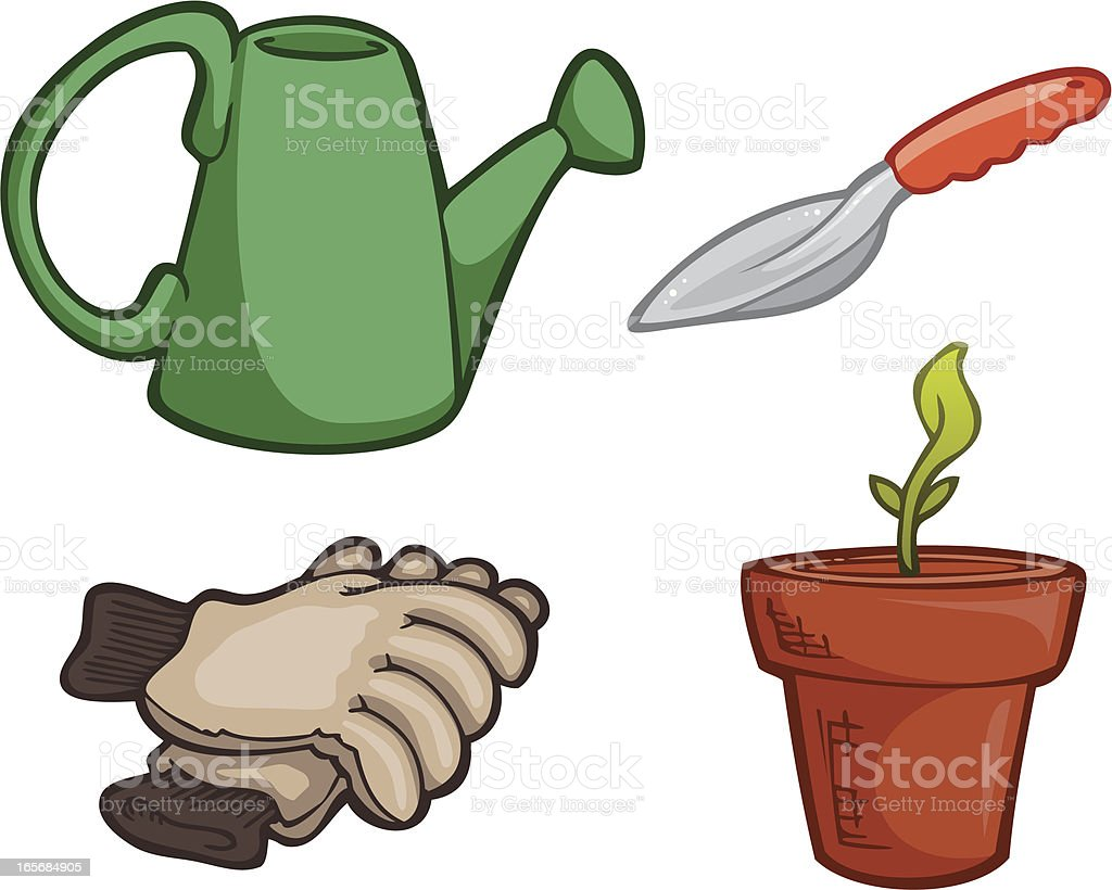 Planting Icons royalty-free stock vector art