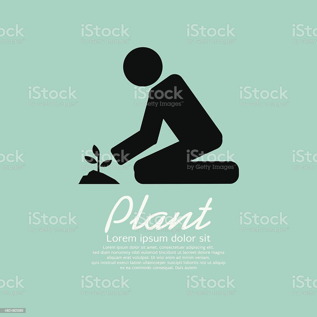 Planting vector art illustration