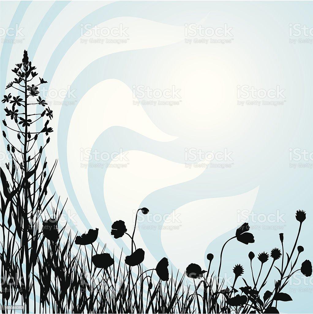 Plants composition three vector art illustration
