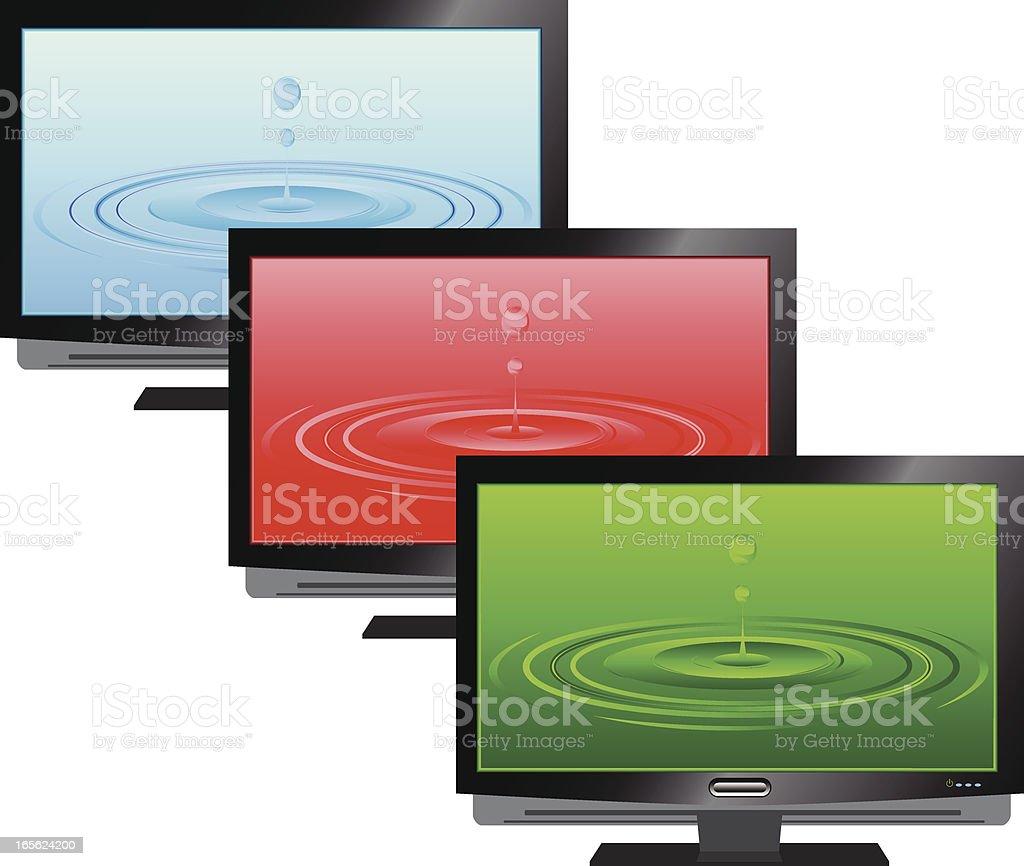 Plasma TV royalty-free stock vector art