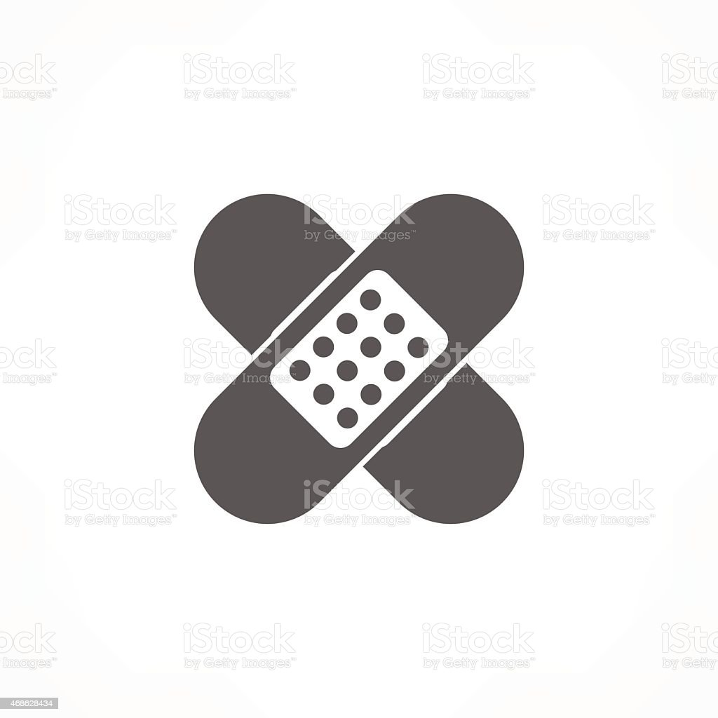 plaster icon vector art illustration