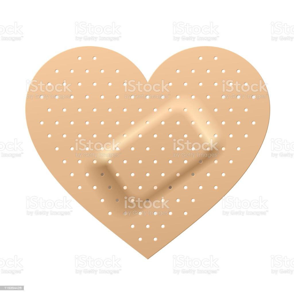 Plaster in shape of heart. Vector. vector art illustration