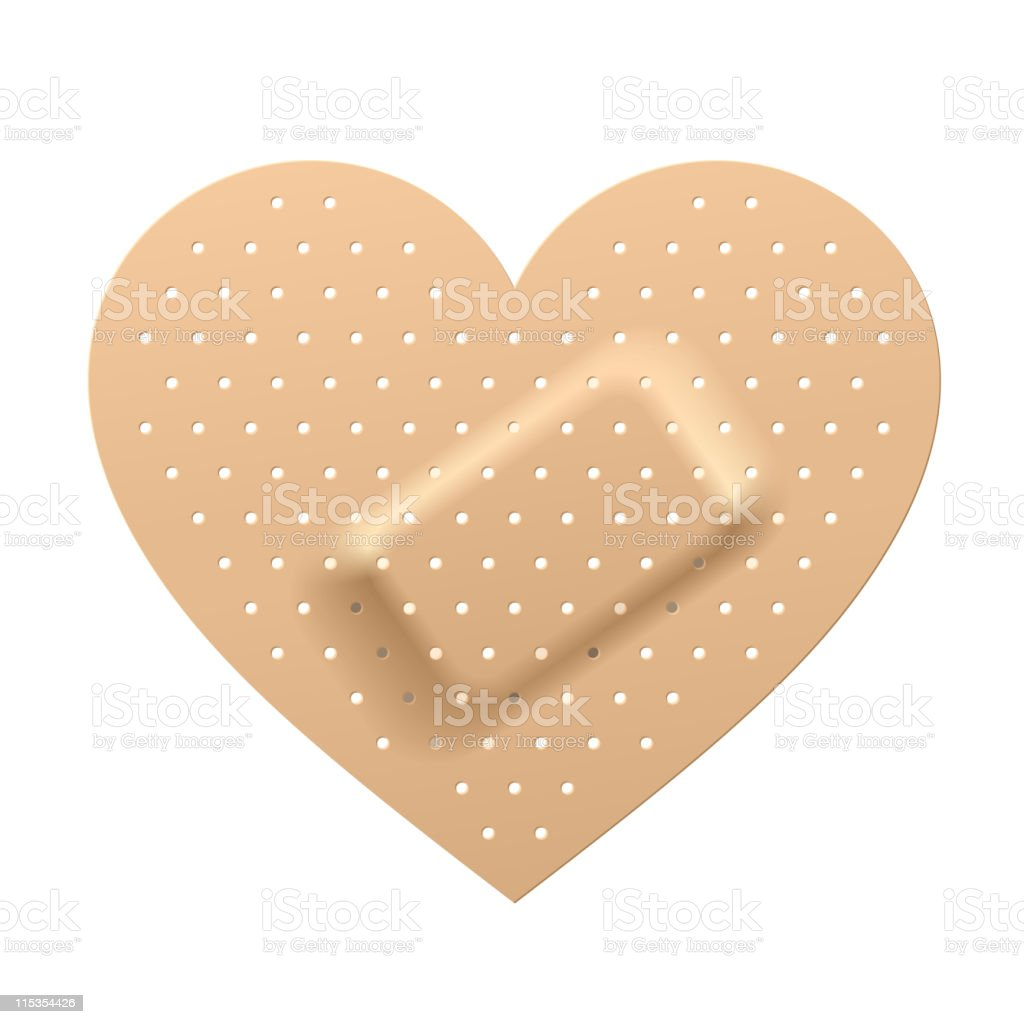 Plaster in shape of heart. Vector. vector art illustration
