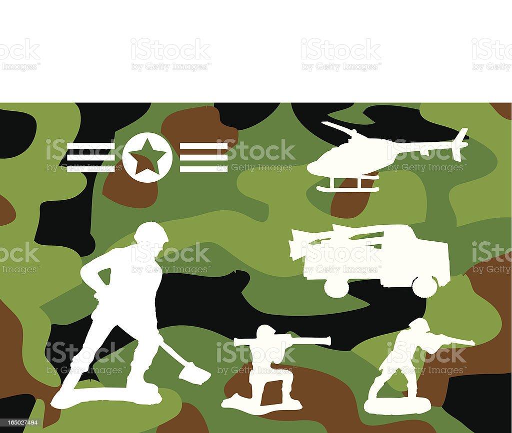Plastic Army royalty-free stock vector art