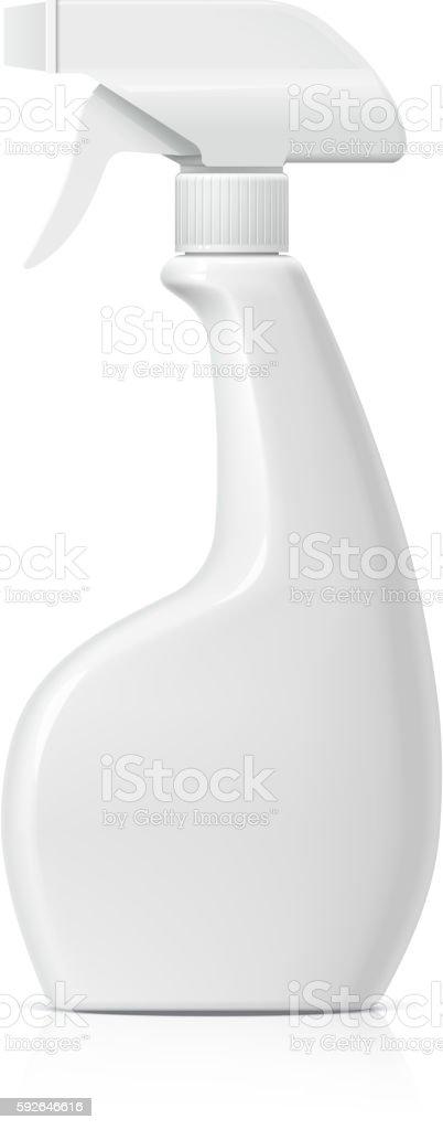 Plastic bottle can Spray Pistol. vector art illustration