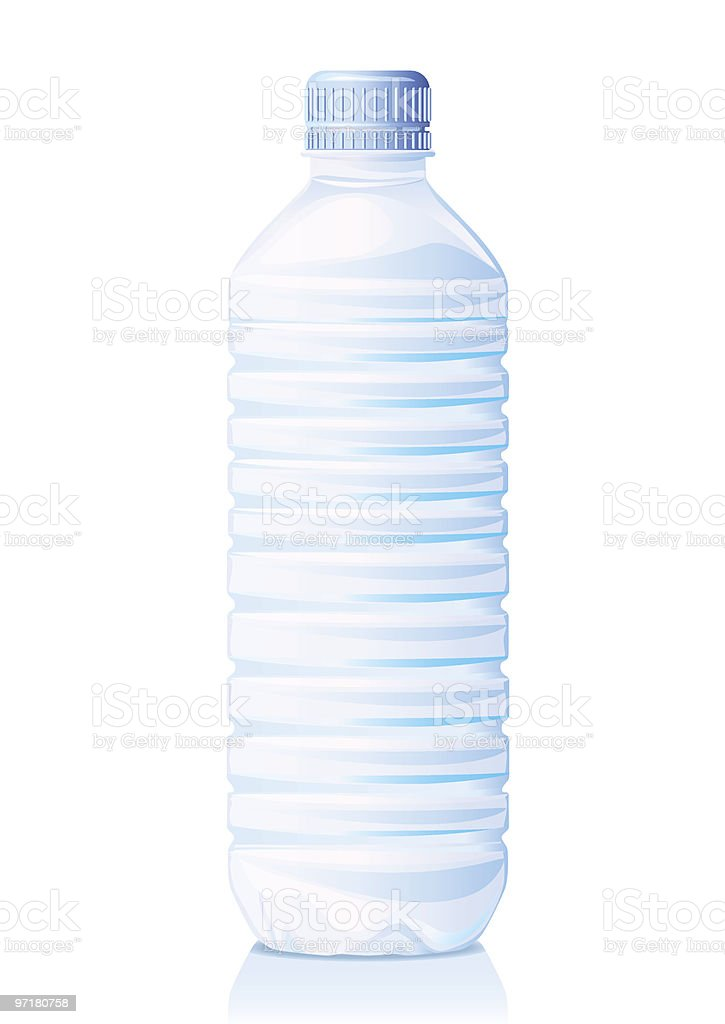 A plastic bottle of water on a white background royalty-free stock vector art