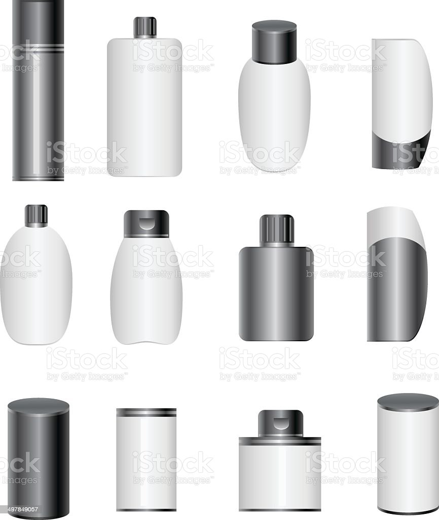 Plastic bottle vector art illustration