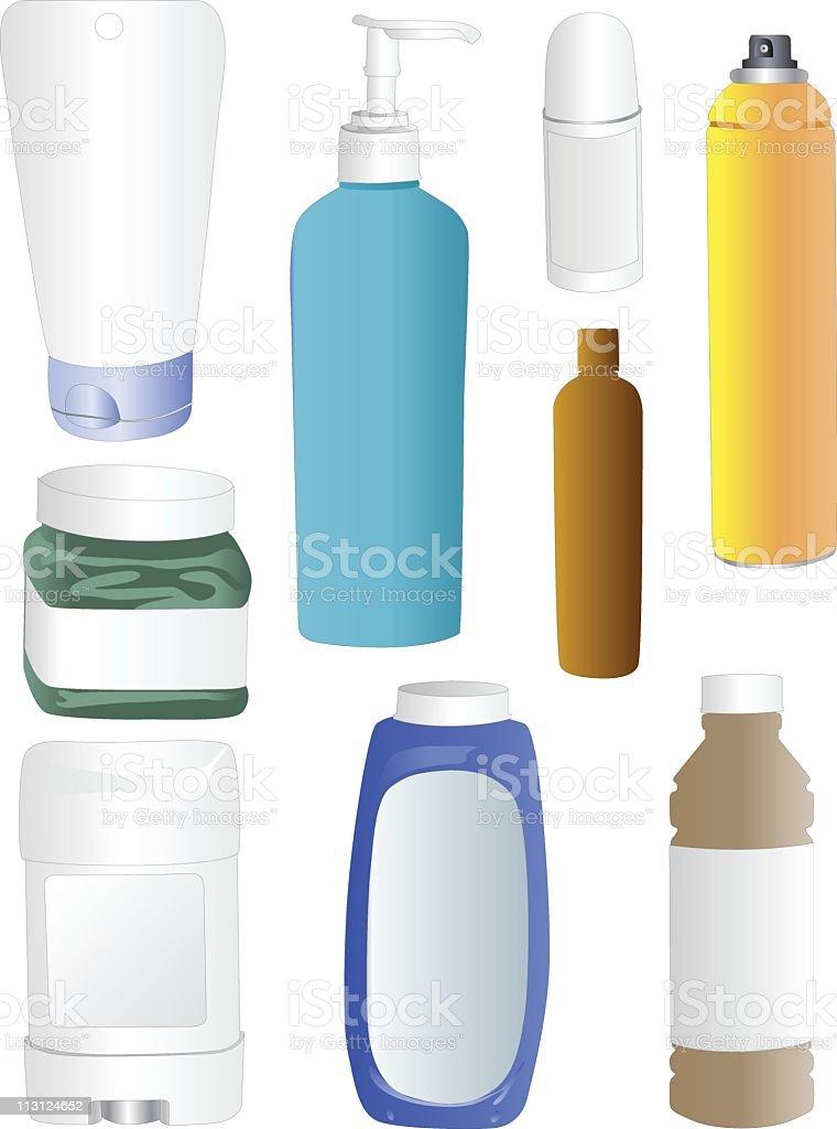 Plastic Bottles (Vector) royalty-free stock vector art