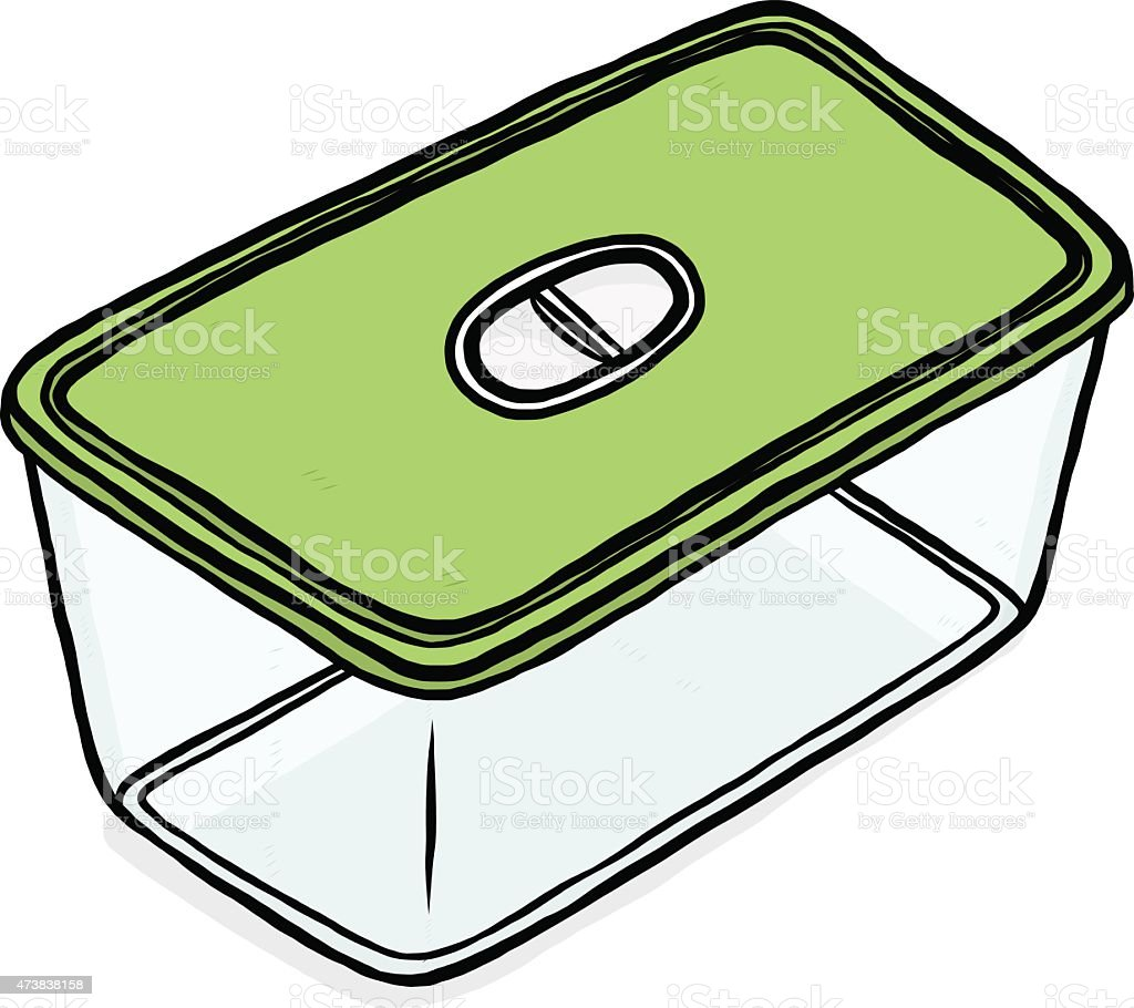 plastic box for food container vector art illustration