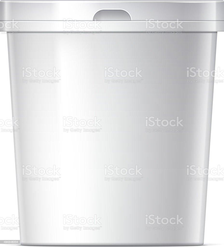 Plastic bucket vector art illustration