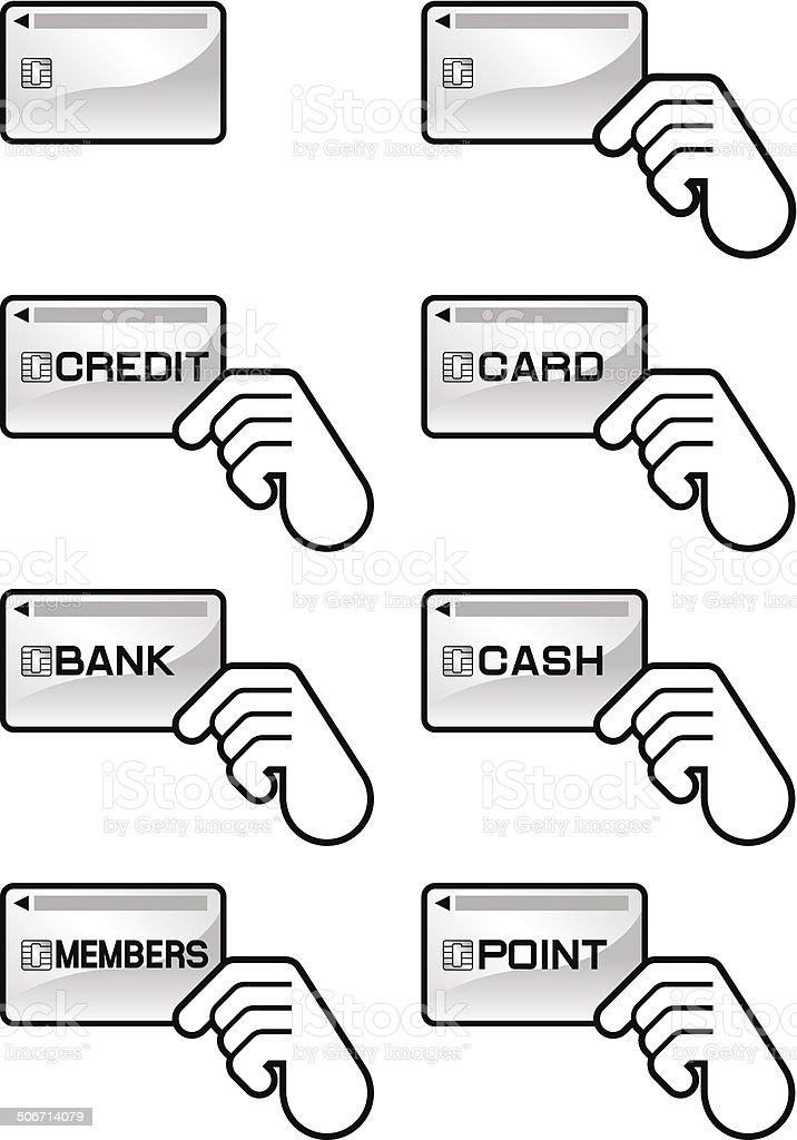 Plastic card. Credit card vector art illustration