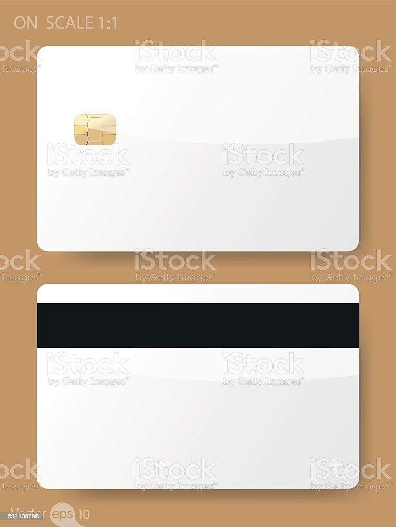 Plastic Card vector art illustration