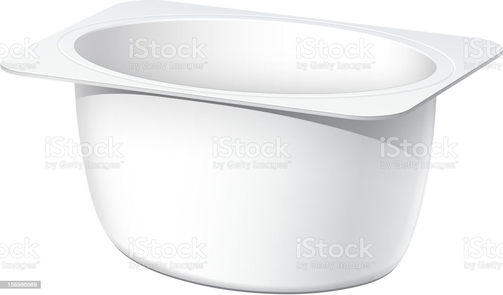 Plastic container for yogurt royalty-free stock vector art
