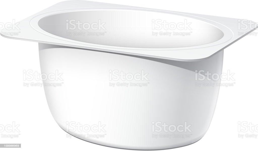 Plastic container for yogurt vector art illustration