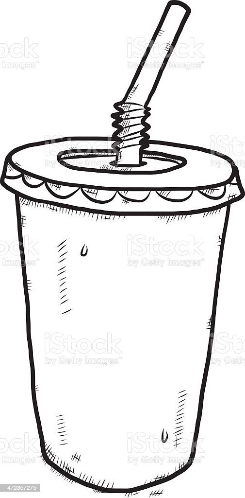 plastic cup for drink cartoon royalty-free stock vector art