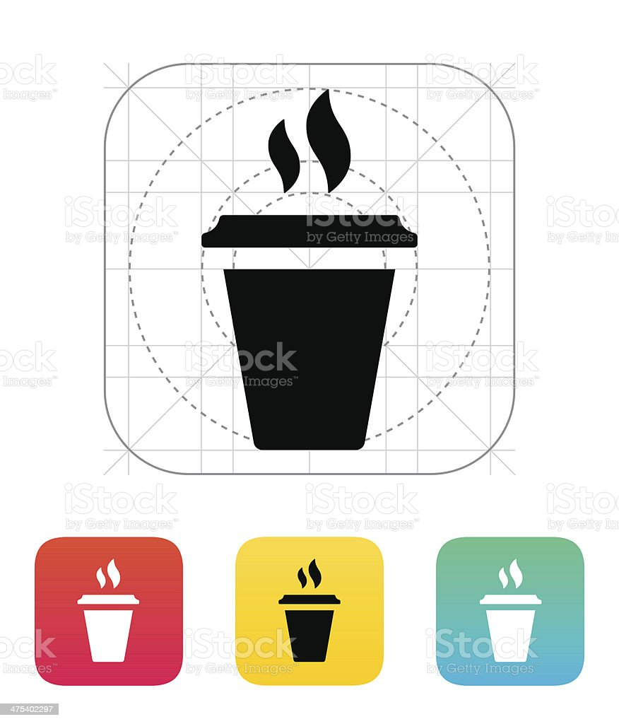 Plastic cup icon. royalty-free stock vector art