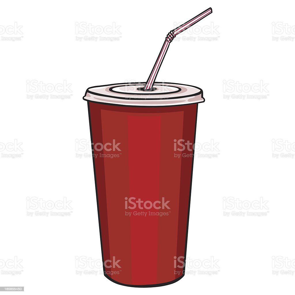 plastic cup with lid for hot drinks royalty-free stock vector art